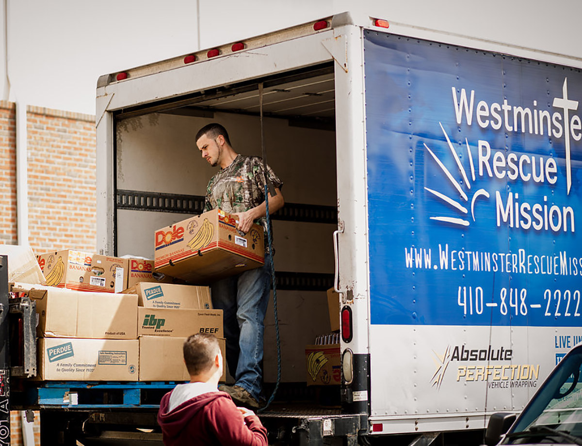 Westminster-Rescue-Mission-food-delivery-truck